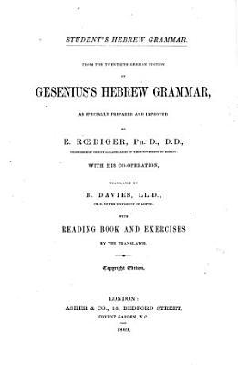 Student s Hebrew Grammar