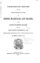Report of Vital Statistics for Rhode Island: Volumes 13-15