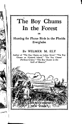 The Boy Chums in the Forest, Or Hunting for Plume Birds in the Florida Everglades