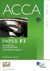 ACCA Paper F3 - Financial Accounting (INT) Study Text