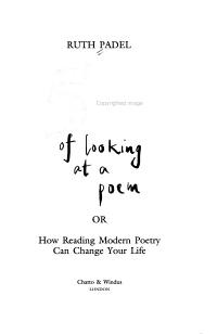 52 Ways of Looking at a Poem  Or  How Reading Modern Poetry Can Change Your Life