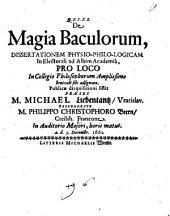 De magia baculorum: dissertationem physio-philo-logicam ...