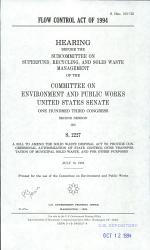 Flow Control Act of 1994