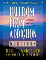 Freedom from Addiction Workbook PDF