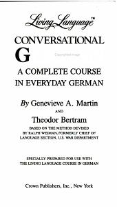 Living Language Conversational German