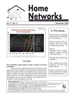 Home Networks Monthly Newsletter November 2009 PDF