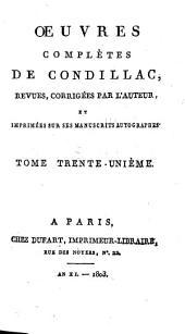 Œuvres complètes de Condillac: Langue des calculs