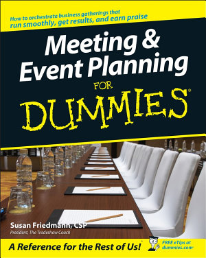 Meeting and Event Planning For Dummies PDF