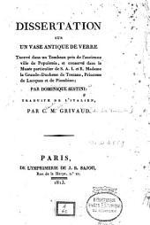 Dissertation sur un vase antique de verre trouvé dans un tombeau près de l'ancienne ville de Populonia...
