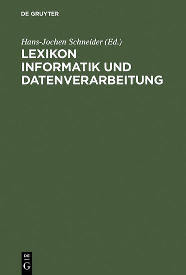 Lexikon Informatik und Datenverarbeitung PDF