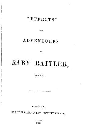 Effects  and Adventures of Raby Rattler PDF
