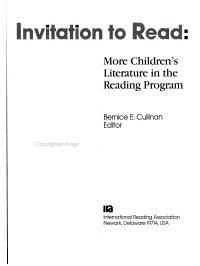 Invitation to Read