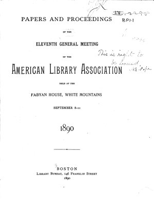 Papers and Proceedings of the     Annual Meeting of the American Library Association Held at     PDF
