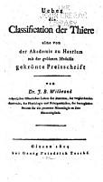 Ueber die Classification der Thiere eine von der Akademie zu Haarlem mit der goldenen Medaille gekr  nte Preisschrift PDF
