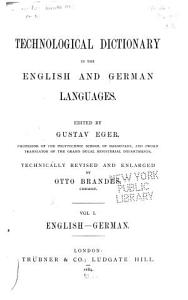 Technological Dictionary in the English and German Languages  English German   vol  II  German English PDF