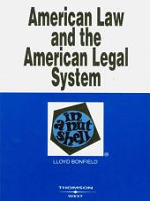 Bonfield's American Law and the American Legal System in a Nutshell