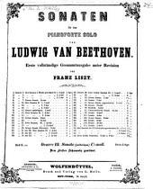 Sonaten für das Pianoforte solo: Sonate (pathétique), c-Moll, oeuvre 13, Volume 8