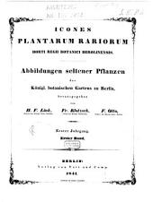Abbildungen Seltener Pflanzen des Königl. Botanischen Gartens Zu Berlin: 1, Band 1