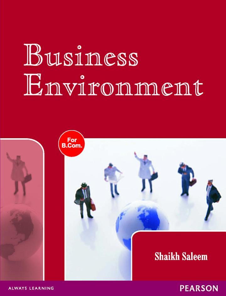 Business Environment: For the B.Com. Course of Uttar Pradesh Universities