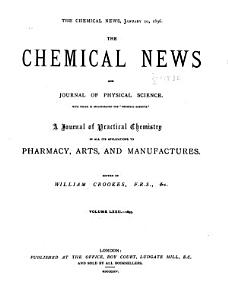 Chemical News and Journal of Industrial Science PDF