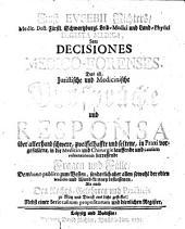 Digesta medica, seu Decisiones medico-forenses, das ist, Juristische und Medicinische Ausspräche und Responsa über allerhand schwer ... in Praxi vorgefallene ... Fragen und Fälle etc
