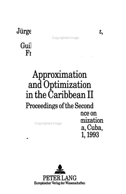 Approximation and Optimization in the Caribbean II PDF