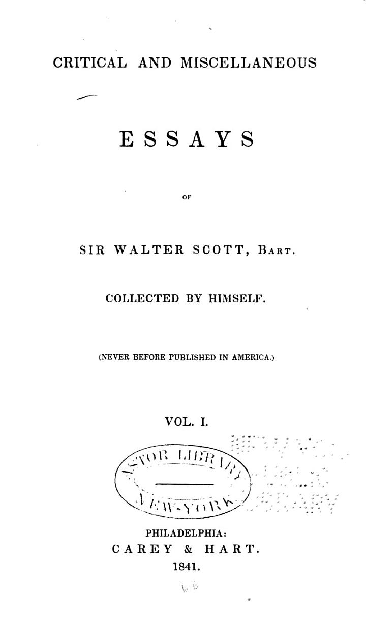 On Ellis's Specimens of the early English poets. Ellis' and Ritson's Specimens of early English metrical romances. Godwin's life of Chaucer. Todd's edition of Spenser. Herbert's poems Evans's Old ballads. Moliere. Chatterton. Reliques of Burns. Compbell's Gertrude of Wyoming. The battles of Talavera; a poem. Southey's Curse of Kehama. Childe Harold's pilgrimage, canto IV. Amadis of Gaul. Southey's Chronicle of the Cid. Southey's Life of John Bunyan. Godwin's Fleetwood. Cumberland's John De Lancaster. Maturin's Fatal revenge. Maturin's Women; or, Pour et contre. Miss Austen's novels. Remarks on Frankenstein