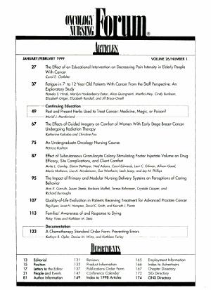 Oncology Nursing Forum PDF