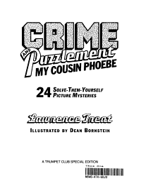 Crime and puzzlement, my Cousin Phoebe