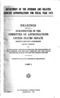 Department of the Interior and Related Agencies Appropriations for Fiscal Year 1973 PDF