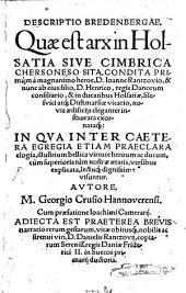 Descriptio Bredenbergae, quae est arx in Holsatia