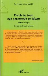 Précis de droit des personnes en Islam