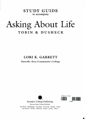 Study Guide to Accompany Asking About Life PDF