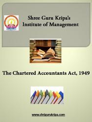 Chartered Accountant Act  1949 PDF