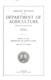 Report of the Secretary of Agriculture