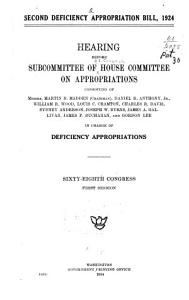 Second Deficiency Appropriation Bill  1924 PDF