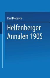 Helfenberger Annalen 1905: Band 18