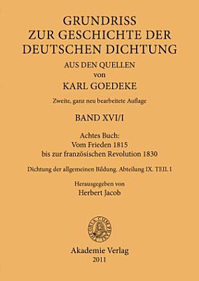 Achtes Buch  Vom Frieden 1815 bis zur franz  sischen Revolution 1830 PDF
