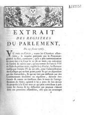 Extrait des registres... Du 25 février 1763 [règlant la conduite des officiers municipaux vis-à-vis des bureaux des anciens collèges de Jésuites]