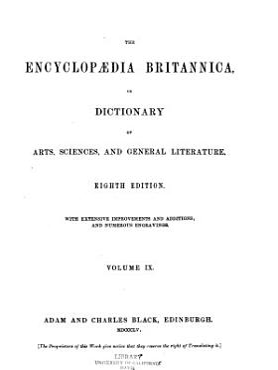 Encyclop  dia Britannica  Or  Dictionary of Arts  Sciences and General Literature PDF
