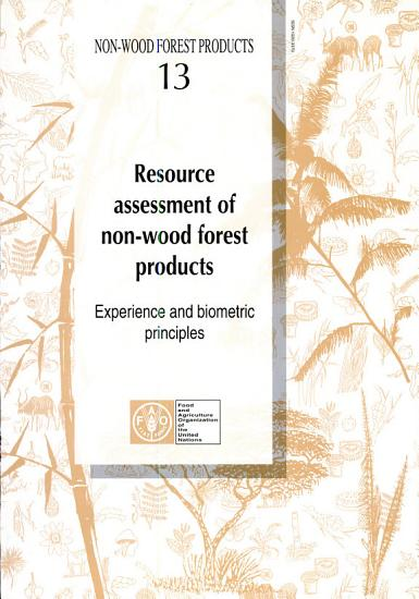 Resource Assessment of Non wood Forest Products PDF