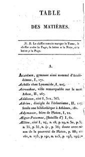 Essai historique sur Platon: et coup d'oeil rapide sur l'histoire du Platonisme depuis Platon jusqu 'à nous, Volume2