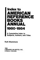 Index to American Reference Books Annual PDF