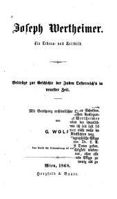 Joseph Wertheimer. Ein Lebens- und Zeitbild