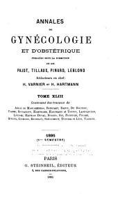 Annales de gynecologie et d'obstetrique: Volumes 43-44
