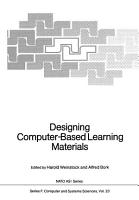 Designing Computer Based Learning Materials PDF