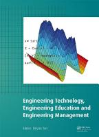 Engineering Technology  Engineering Education and Engineering Management PDF