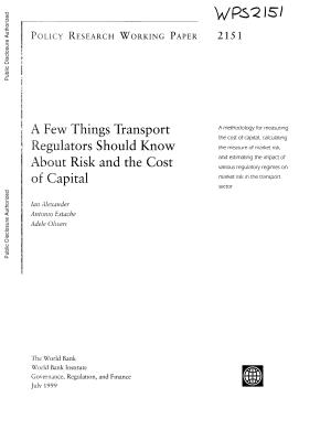 A Few Things Transport Regulators Should Know about Risk and the Cost of Capital PDF