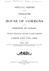 House of Commons Debates, Official Report: Volume 4