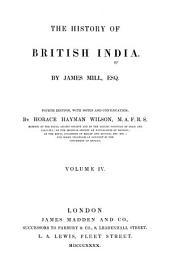 The History of British India: Volume 4